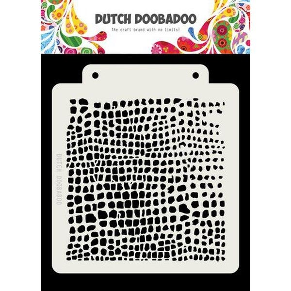 Dutch Doobadoo Mask Stencil 6x6 Crocodile