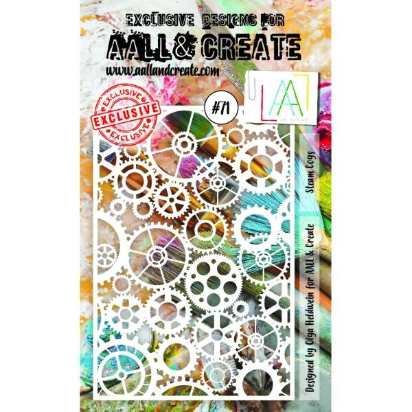 AALL & Create Stencil A6 No. 71 Steam Cogs