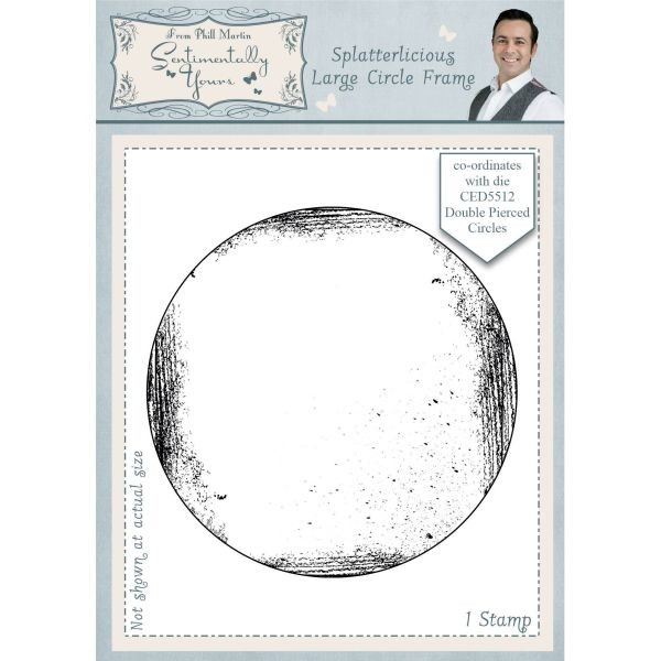 Sentimentally Yours Pre-Cut Rubberstamp Spalletrlicious Large Circle Frame