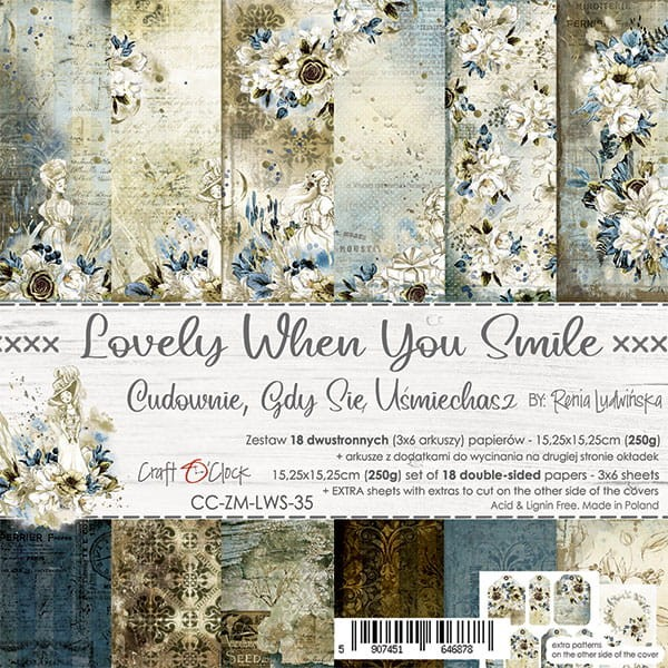 Craft o´Clock Lovely when You Smile A Set of Papers 6x6