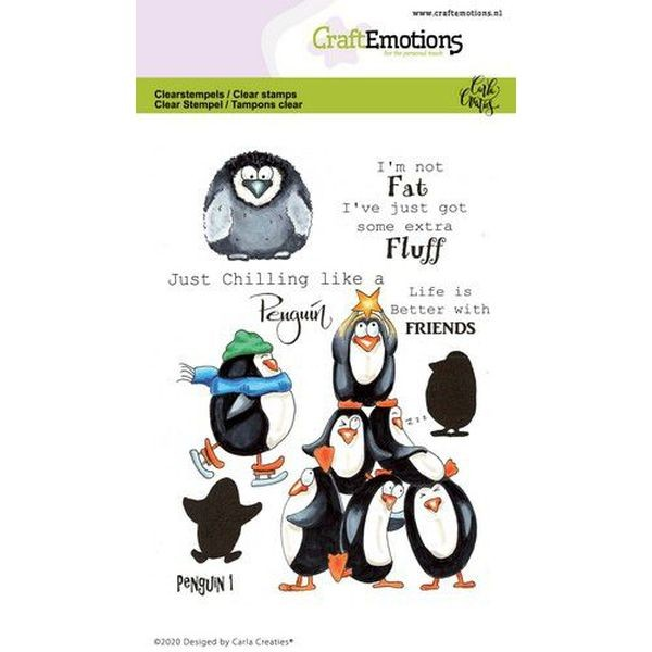 Craft Emotions Clearstamps Penguin I