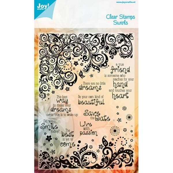 Joy! Crafts Clear Stamps Noor Design Swirls