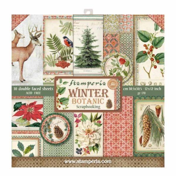 Stamperia Paper Pad Winter Botanic
