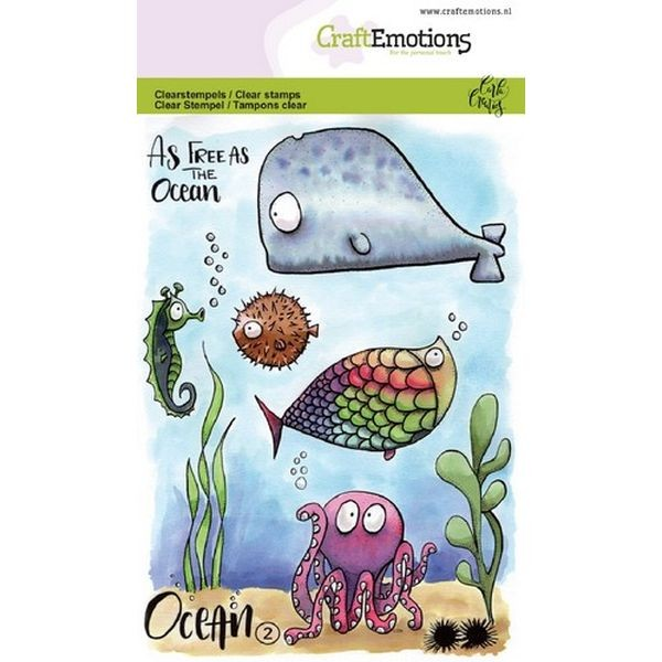 Craft Emotions Clearstamps Ocean No. 2