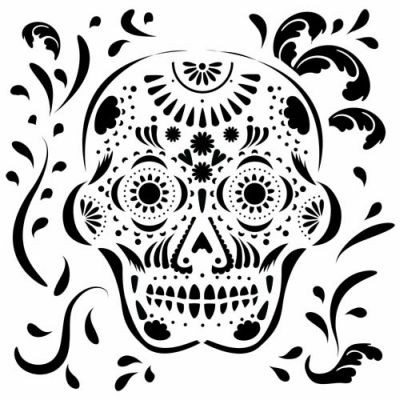 TCW Template 6x6 Mexican Skull