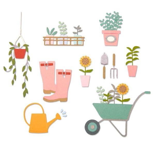 Sizzix Thinlits Die Garden Shed