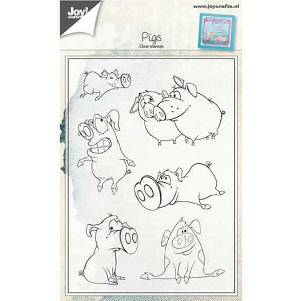 Joy! Crafts Clear Stamps Pigs