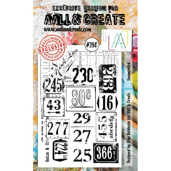 AALL & Create Clearstamps A6 No. 280 Enumberated