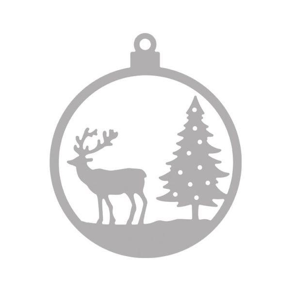Rayher Stanzschablone Weihnachtskugel Hirsch