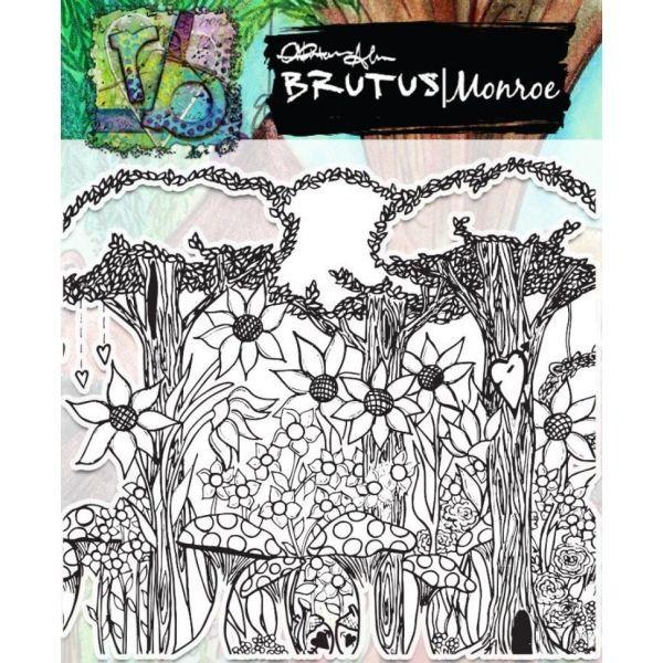 Brutus Monroe Clearstamps Fairy Garden Background
