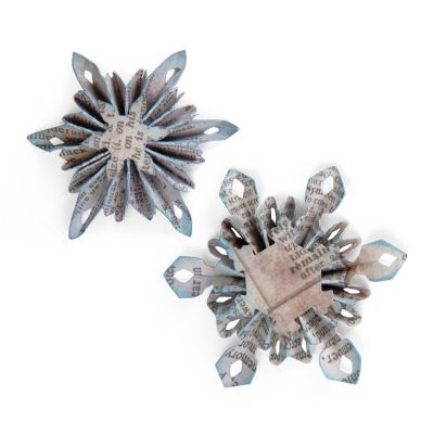 Tim Holtz Alterations Decorative Strip Mini Snowflake Rosette