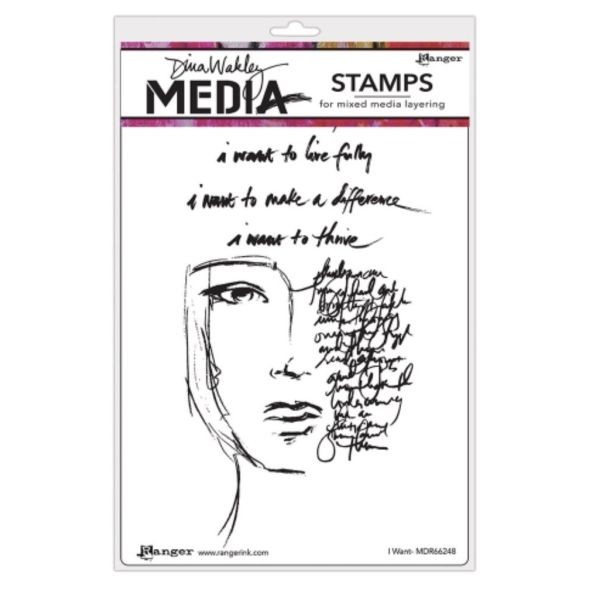 Dina Wakley Media Clingstamps I Want