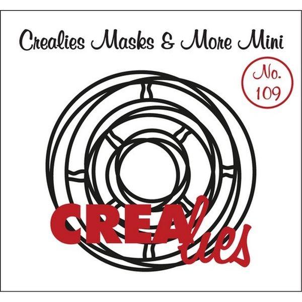 CreaLies Masks & More Mini No. 109 Intertwined Circles