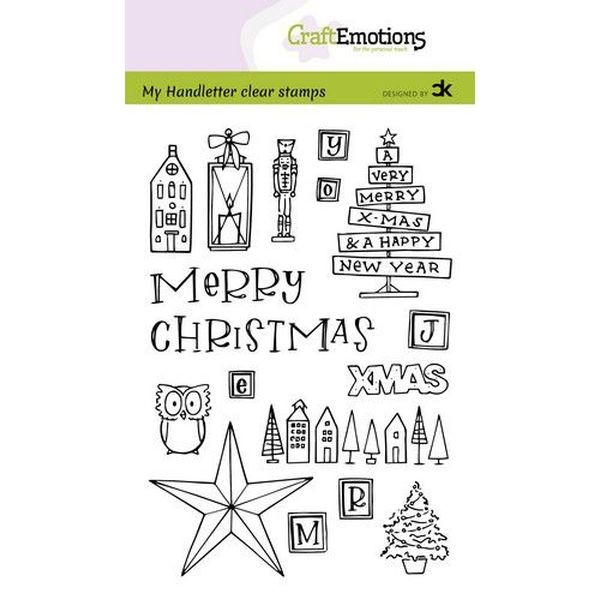 Craft Emotions Clearstamps Handletter Xmas Decorations I