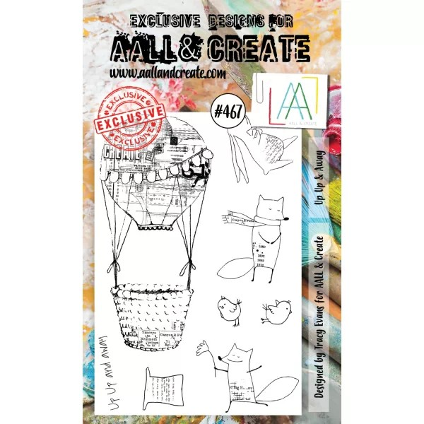 AALL & Create Clearstamps A6 No. 467 Up Up & Away