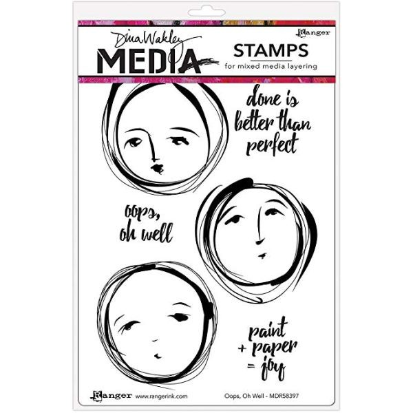 Dina Wakley Media Clingstamps Oops, Oh Well