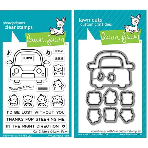 Lawn Fawn Bundle Clearstamps & Dies Car Critters
