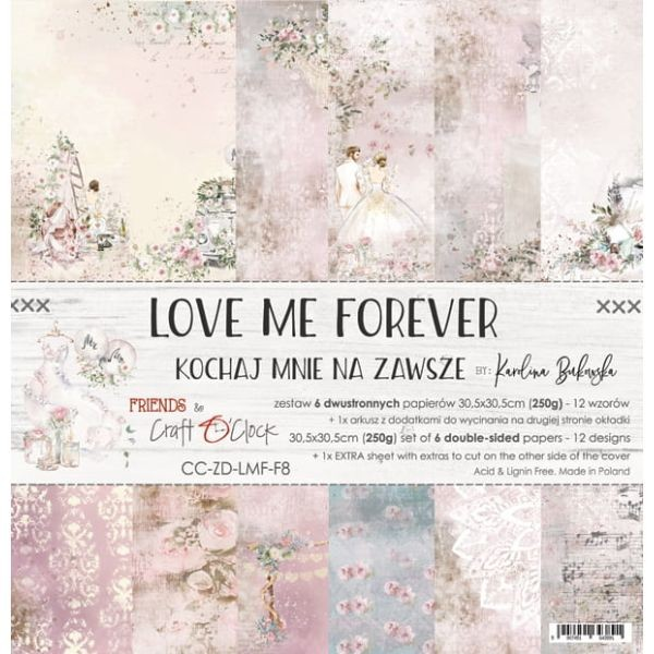 Craft o´Clock Love me forever A Set of Papers 12x12