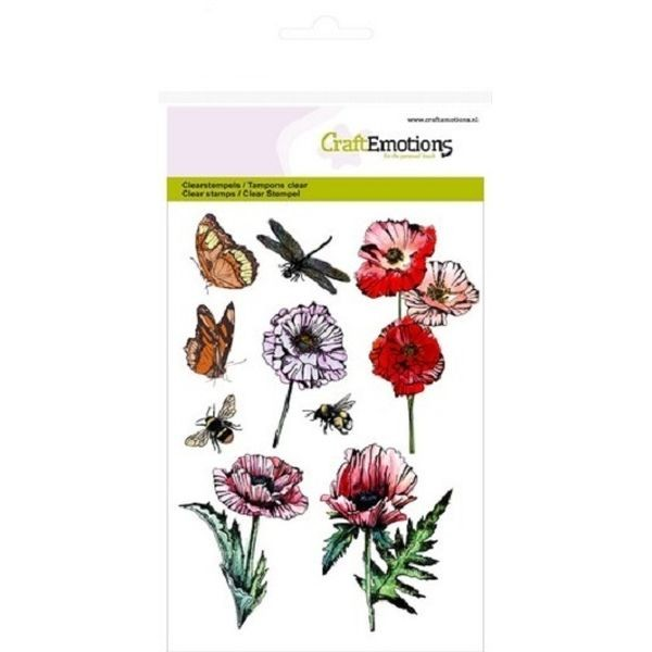 Craft Emotions Clearstamps Butterflies
