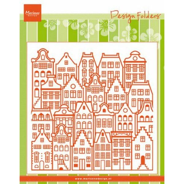 Marianne D Embossingfolder Dutch Houses