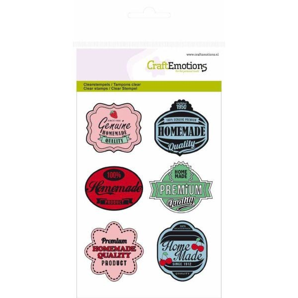 Craft Emotions Clearstamps Fifties Kitchen Tags