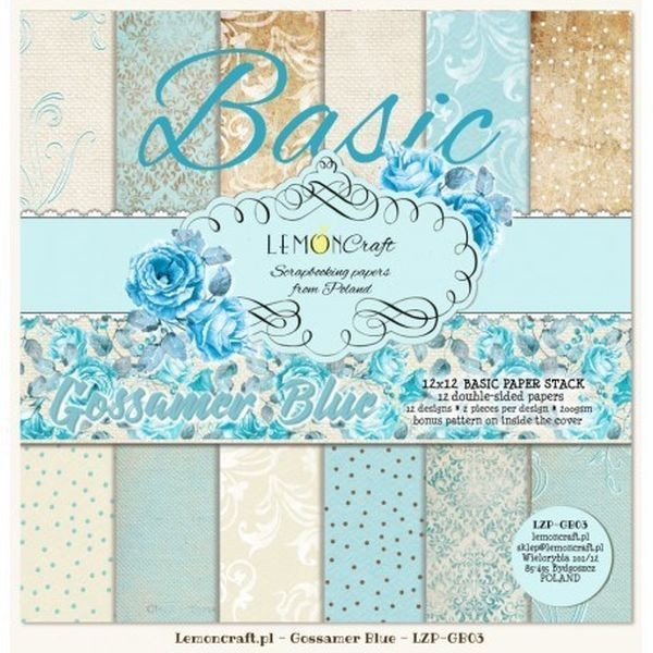 Lemoncraft Basic Gossamer Blue Paper Pad 12x12