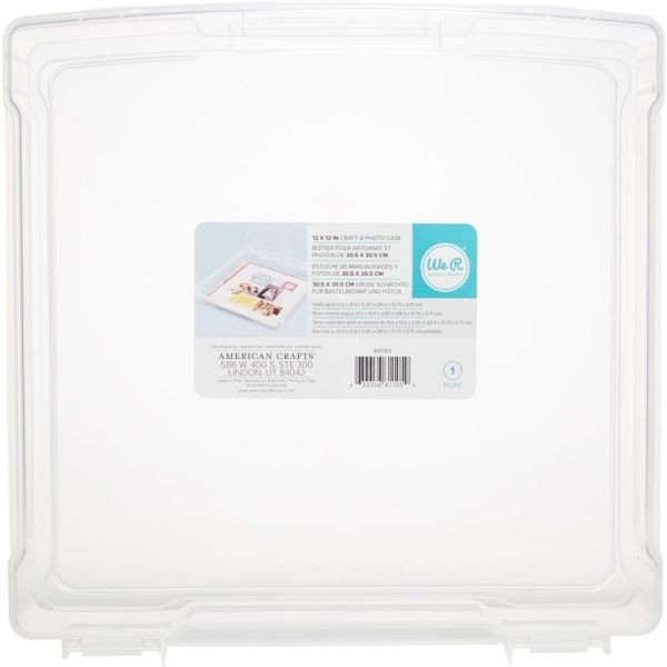 WeR Memory Keepers Craft & Photo Translucent Plastic Storage