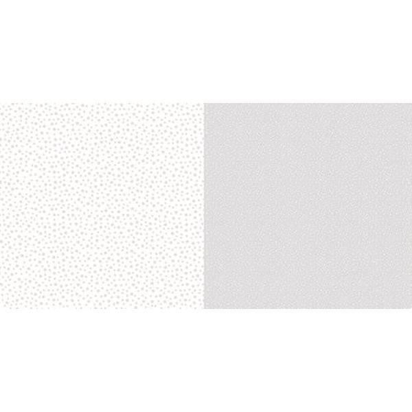 Dini Design Scrapbook-Papier Punkte & Blumen Silbergrau