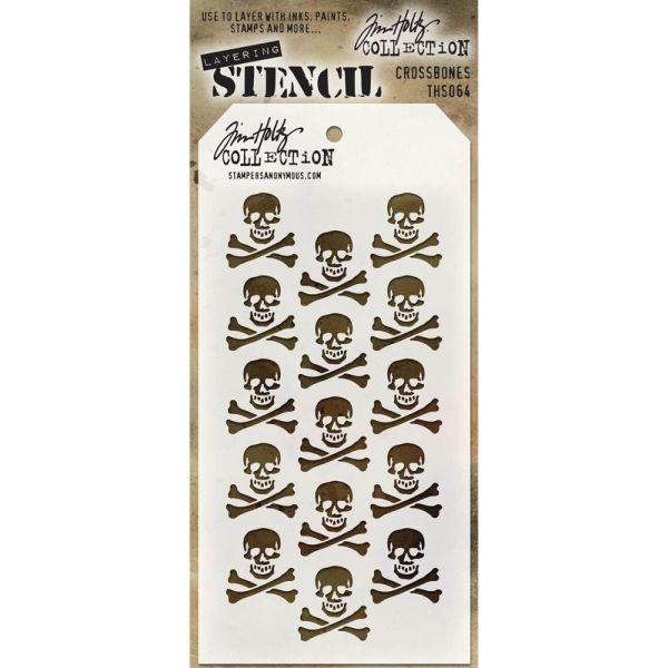 Tim Holtz Layering Stencils 064 Crossbones