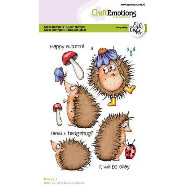 Craft Emotions Clearstamps Hedgy II