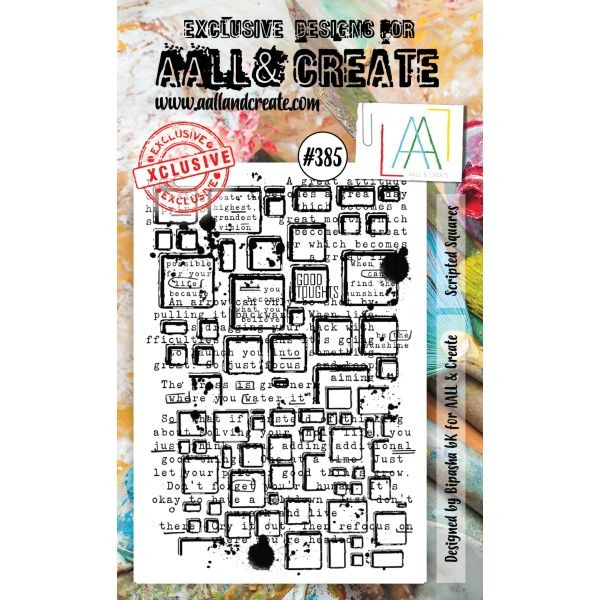 AALL & Create Clearstamps A5 No. 385 Scripted Squares