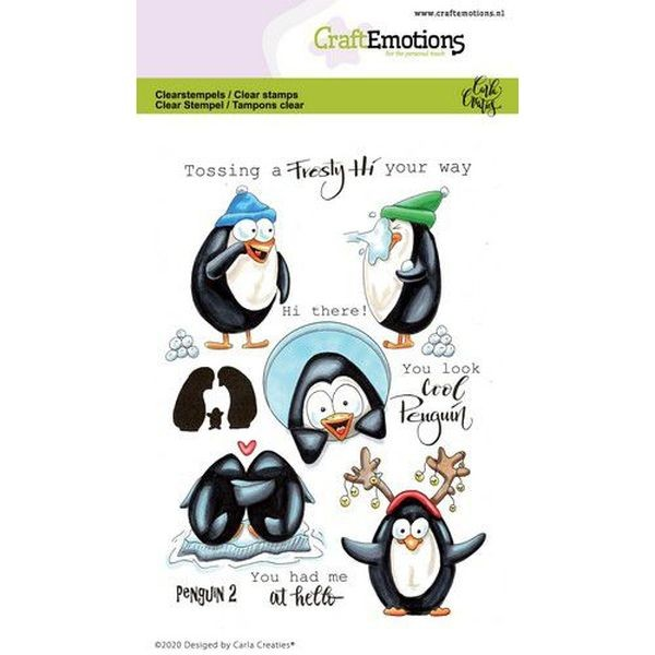 Craft Emotions Clearstamps Penguin II