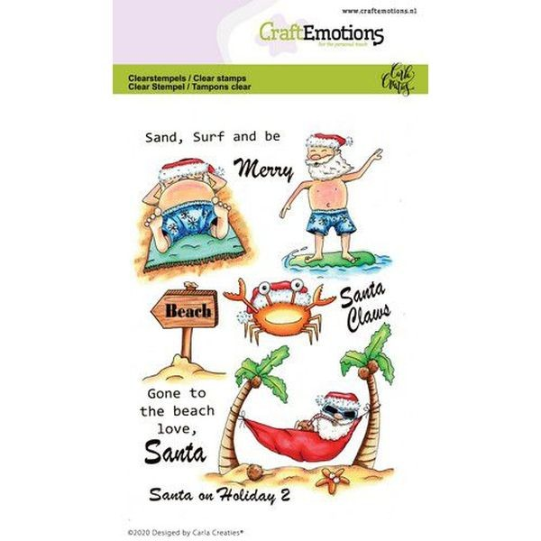 Craft Emotions Clearstamps Santa on Holiday II