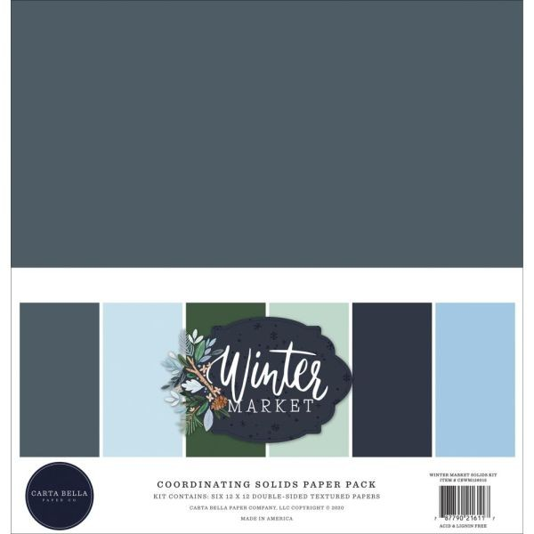 Carta Bella Winter Market Coordinating Solids Paper Pack