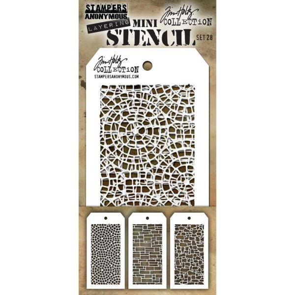 Tim Holtz Mini Stencil Set 028