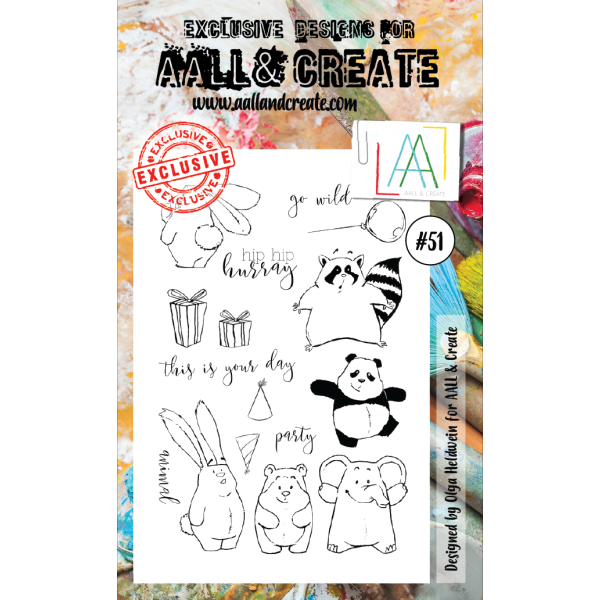 AALL & Create Clearstamps A6 No. 51