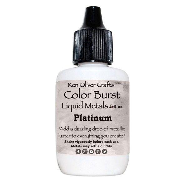 Ken Oliver Crafts Color Burst Liquid Metals Platinum