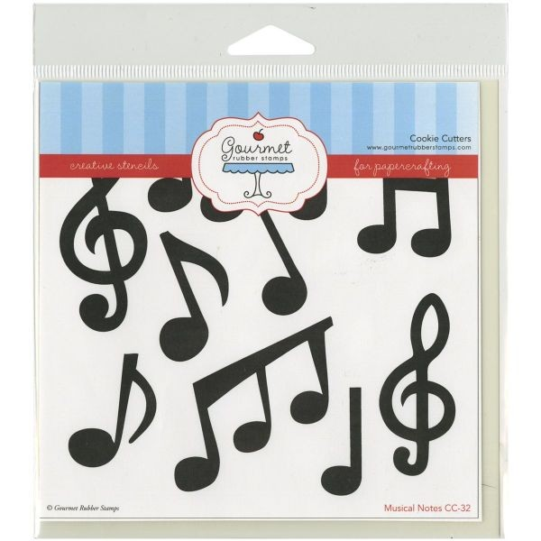 Gourmet Rubber Stamps Stencil Musical Notes
