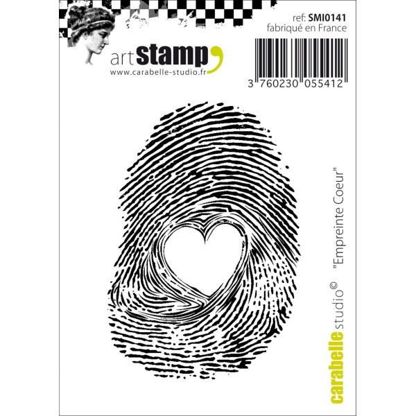 Carabelle Studio Tampon Art Stamp Mini Empreinte Coeur