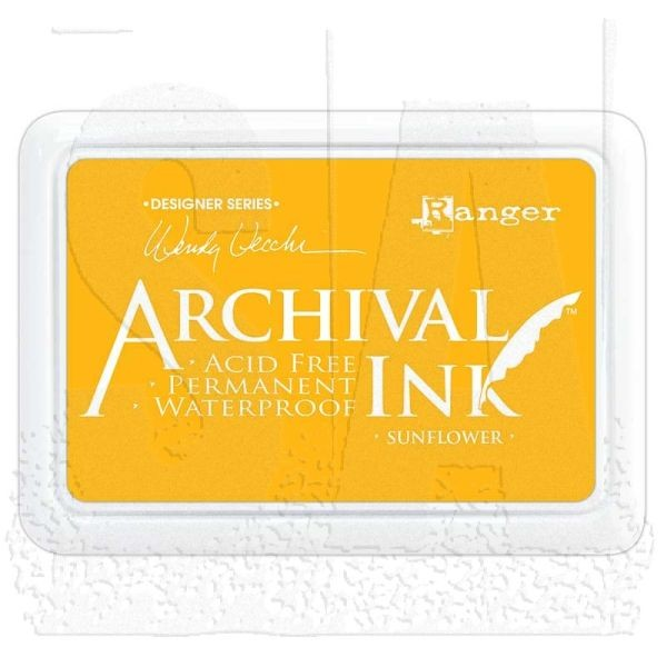 Ranger Archival by Wendy Vecchi Ink Pad Sunflower