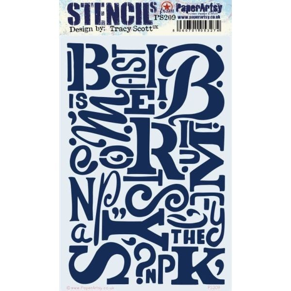 Paper Artsy Stencil Large 209 by Tracy Scott