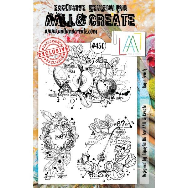 AALL & Create Clearstamps A5 No. 450 Basic Fruits