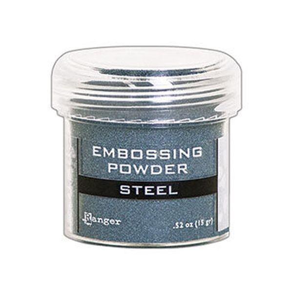 Ranger Metallics Embossingpowder Steel