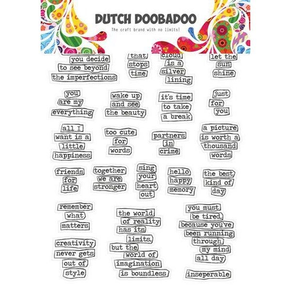 Dutch Doobadoo Sticker Art A5 Doodle Text