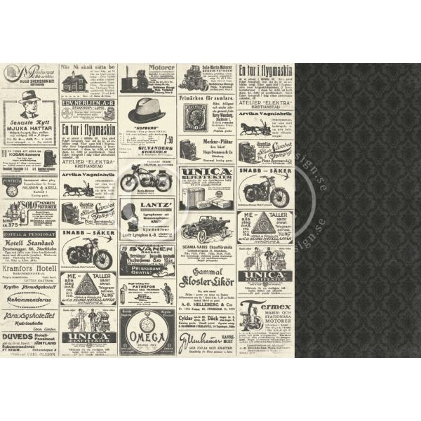 Pion Design Mister Tom´s Treasures Vintage Newspaper