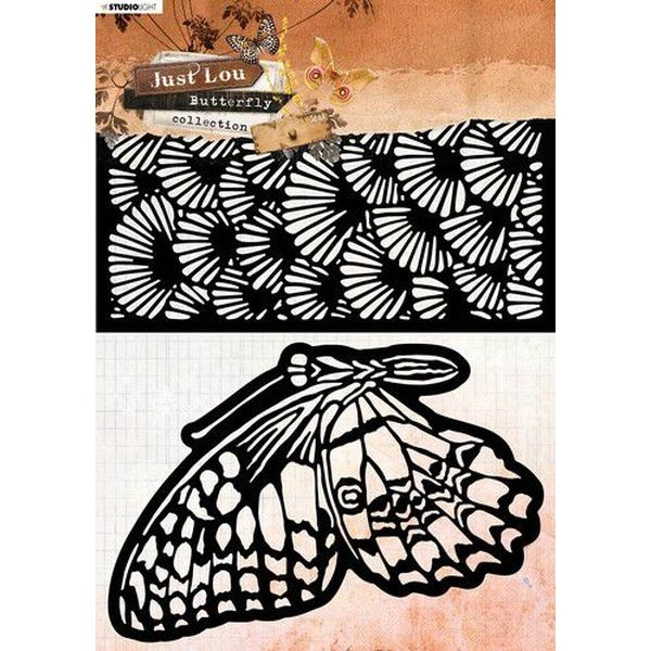 Studio Light Stencil A4 Just Lou - Butterfly Coll. No. 13