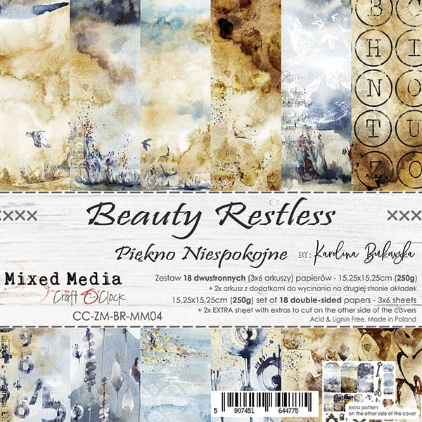 Craft o´Clock Beauty Restless A Set of Papers 6x6