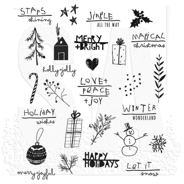 Tim Holtz Seasonal Scribbles