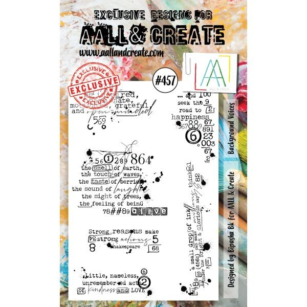 AALL & Create Clearstamps A6 No. 457 Background Voices