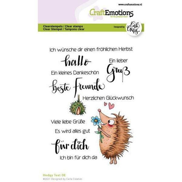 Craft Emotions Clearstamps Hedgy Text